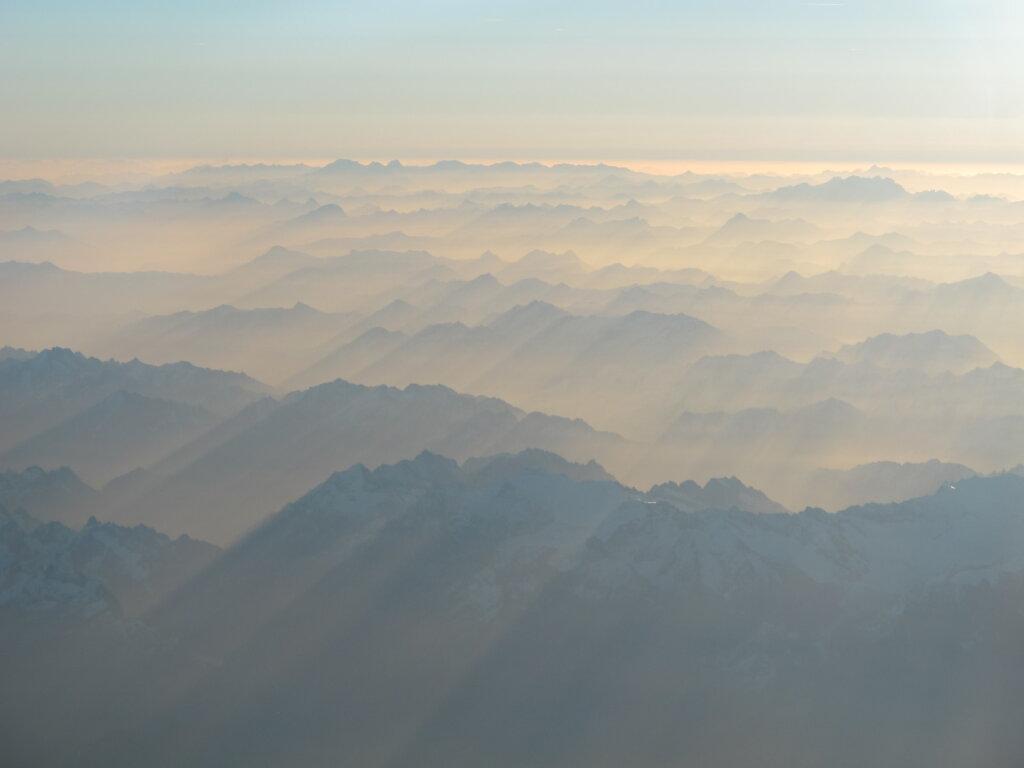 23.10.2012 Toulouse - München | Alpen bei Sonnenaufgang