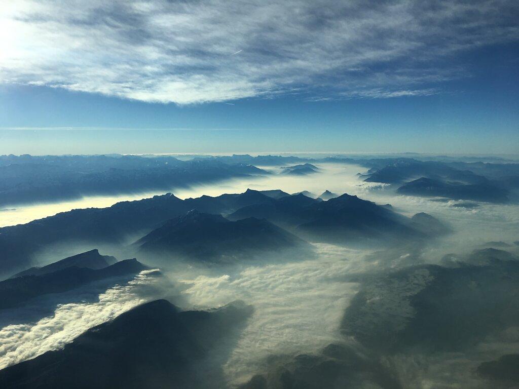 03.12.2016 Lyon - München | Nebel in den Tälern