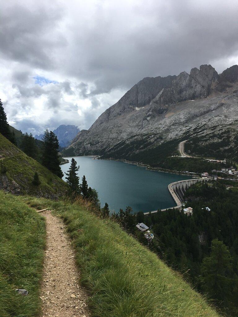 14.08.2018 Der Fedaiasee zum Greifen nahe