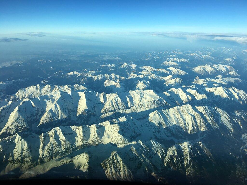 28.02.2019 Ancona - München | Das Karwendel in Sonne getaucht