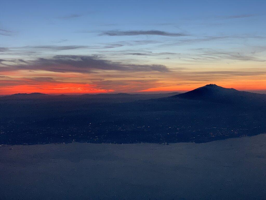 04.07.2021 München - Catania | Sonnenuntergang über Sizilien