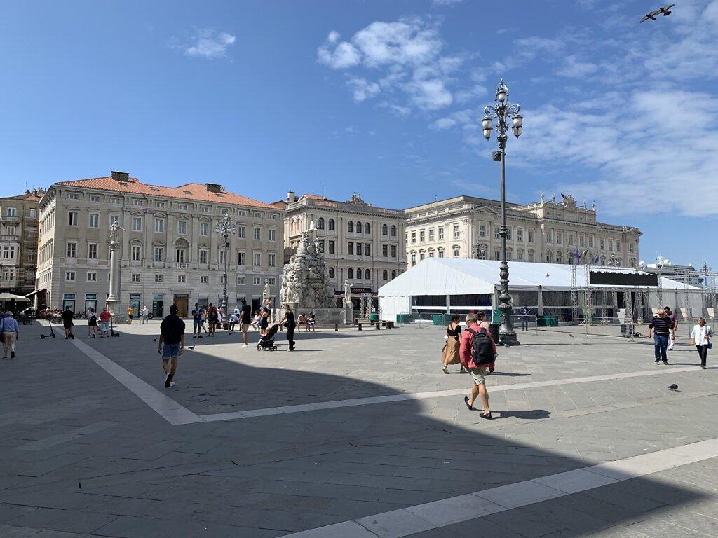 31.08.2021 Piazza Unità d'Italia - das Ziel!